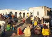 Market place in harar ethiopia — Stock Photo