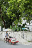 Bicycle taxi in penang malaysia — Stock Photo