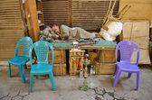 Man sover i kairo souk egypten — Stockfoto