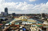 Psar thmei central market in phnom penh cambodia — Stock Photo