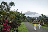 Mount agung från besakih tempel i bali, indonesien — Stockfoto