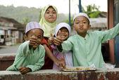Muslim children in bali, indonesia — Stock Photo