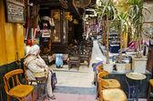 Berömda el fishawy café i kairo souk egypten — Stockfoto