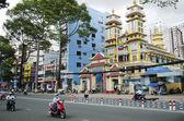 Cao dai tempio in città ho chi minh vietnam — Foto Stock