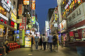 Shopping street in central seoul south korea — Stock Photo