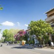 Stock Photo: Kep town centre street in cambodia
