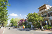Kep town centre street in cambodia — Stock Photo
