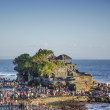 Tanah lot temple in bali indonesia coast - Stock Photo