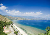 Cristo rei beach near dili east timor — Stock Photo