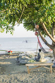 Fisherman on beach dili east timor — Stock Photo