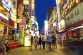 Restaurant street in central seoul south korea — Stock Photo