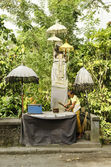 Roadside shrine in bali indonesia — Foto Stock