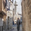 Old town street in aleppo syria - Stock Photo