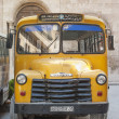 Vintage chevrolet bus in aleppo syria - Stock Photo