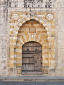 Church door near beirut lebanon — Stock Photo