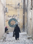 Street in aleppo syria — Stock Photo
