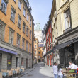 Stockholm sweden old town street - Stock Photo
