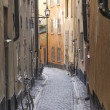 Stockholm sweden old town street — Stock Photo #22726125