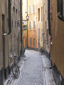 Stockholm sweden old town street — Stock Photo