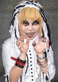 Japonský cosplay ventilátor v harajuku tokio japonsko — Stock fotografie