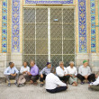 Old men socializing in yazd iran — Stock Photo