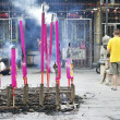 Stock Photo: Incense burning in chinese temple in malaysia