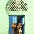 Veiled children by mosque in harar ethiopia — Stock Photo