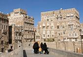 Sanaa old town in yemen — Stock Photo