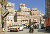 Sanaa old town in yemen — Stock Photo