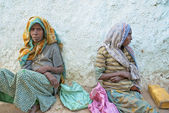 Beggars in harar ethiopia — Stock Photo