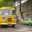 Vintage bus in armenia - Stock Photo