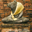 Old buddha statue in ayutthaya thailand — Stock Photo