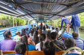 River ferry in bangkok thailand — Stock Photo