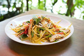 Green mango salad in thailand — Foto Stock