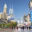 nanjing road in shanghai china — Stock Photo