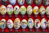 Painted eggs in china market — Stock Photo