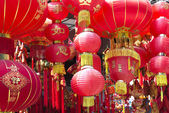 Chinese red lanterns — Stockfoto