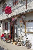 Street scene in shanghai china — Stock Photo