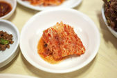 Korean kimchi in seoul restaurant — Stock Photo