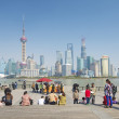 View of pudong in shanghai china - Stock Photo