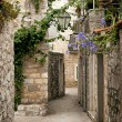 Stock Photo: Budvold town cobbled street in montenegro