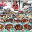 Food stall in yangon myanmar with burmese food - Stock Photo