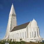 Hallgrimskirkja church in reykjavik iceland — Stock Photo