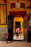 Chinese temple in ho chi minh vietnam — Stock Photo