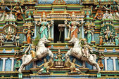 Hindu temple with indian gods kuala lumpur malaysia — Stock Photo