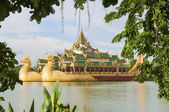 Royal barge in yangon myanmar — Stock Photo
