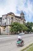Colonial building in yangon myanmar — Stock Photo