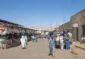 Market street in asmara eritrea — Stock Photo