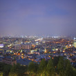 Central seoul in south korea at night - Stock Photo