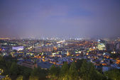 Central seoul in south korea at night — Stockfoto